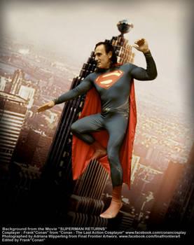 SUPERMAN OVER METROPOLIS