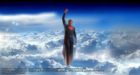 SUPERMAN UP UP IN THE SKY