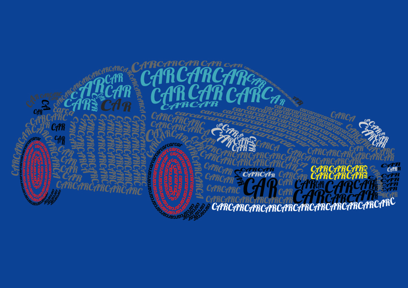 Typography car by Marielledr on DeviantArt