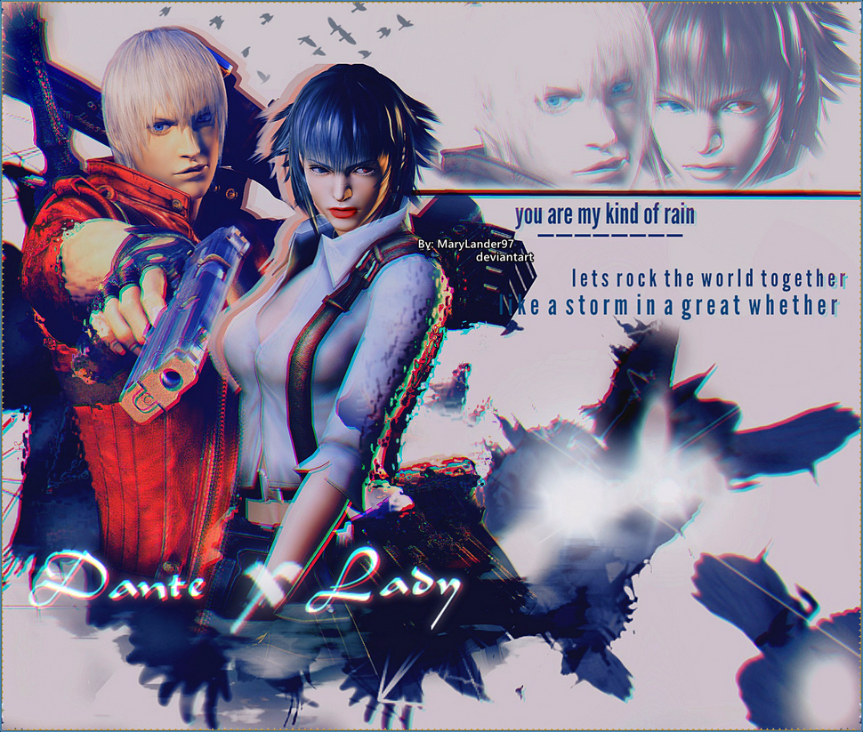 Dante and Lady Wallpaper. by MaryLander97