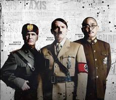 The World Wars - Mussolini, Hitler y Tojo