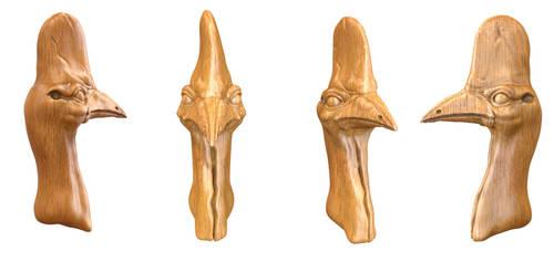 Cassowary Bust