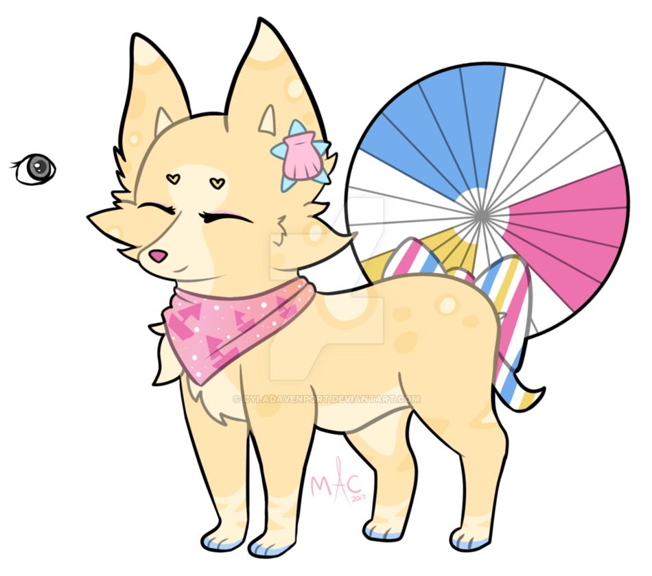 [DTA] Beach Ball Foxfan by CylaDavenport