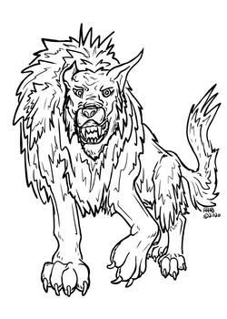 Winter Werewolf Stock Art