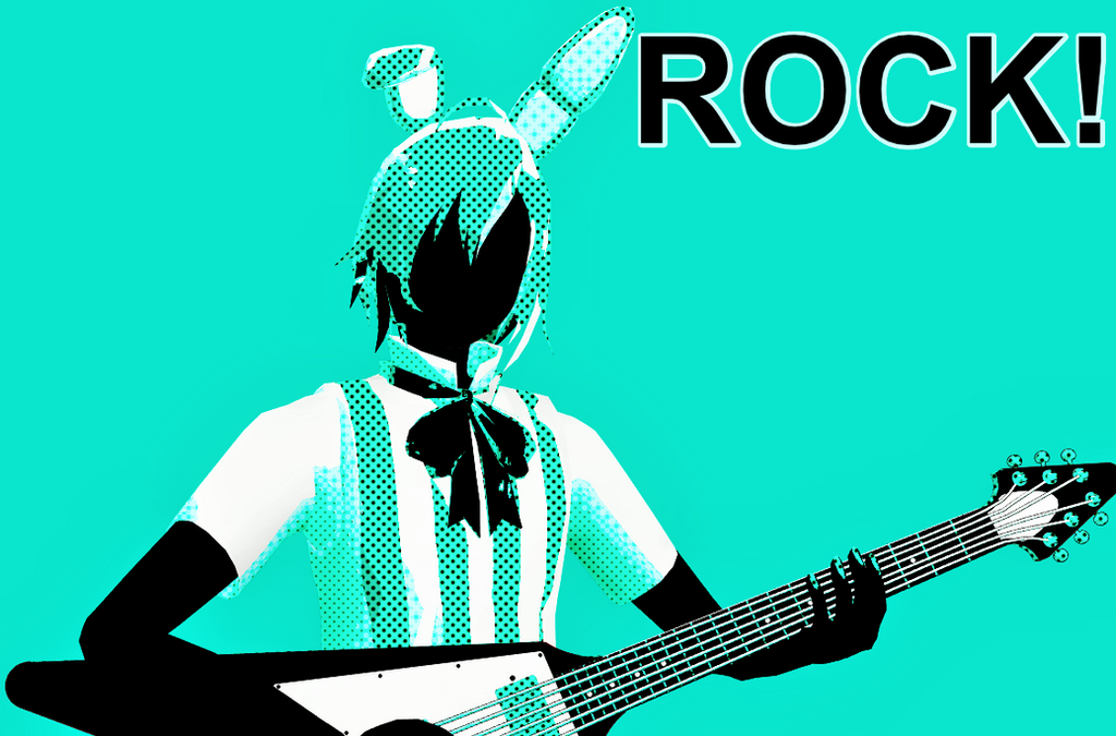 ROCK! (Toy Bonnie) by NeyMarlon
