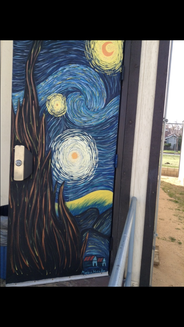 Starry night door painting by aquamarinartist ... & Starry night door painting by aquamarinartist on DeviantArt