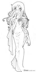 Meganekko Alfons Mucha style by Etuta