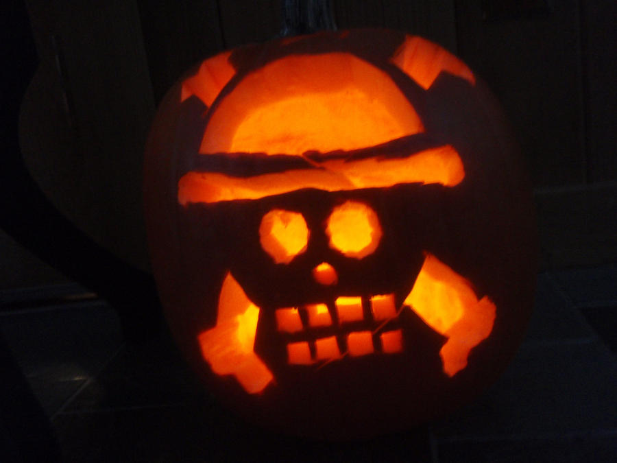 Straw Hat Pirates Pumpkin by Elf10444