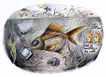 GAS MASK FISH by beanarts