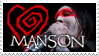 Heart Manson stamp by beanarts