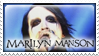 Marilyn Manson Stamp by beanarts