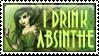 I Drink Absinthe by beanarts