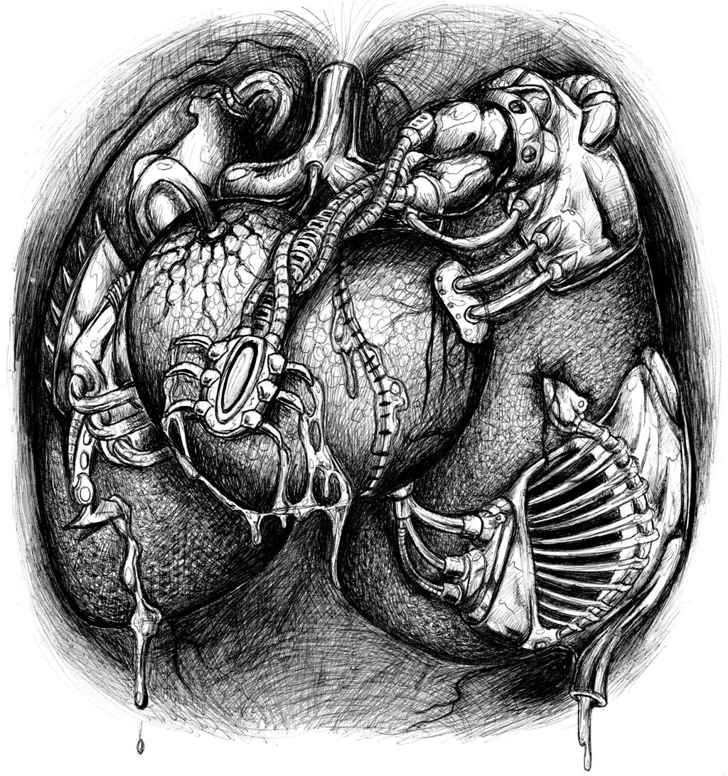 Biomechanical Heart Tattoo Pictures: Biomechanical Heart By Beanarts On DeviantArt