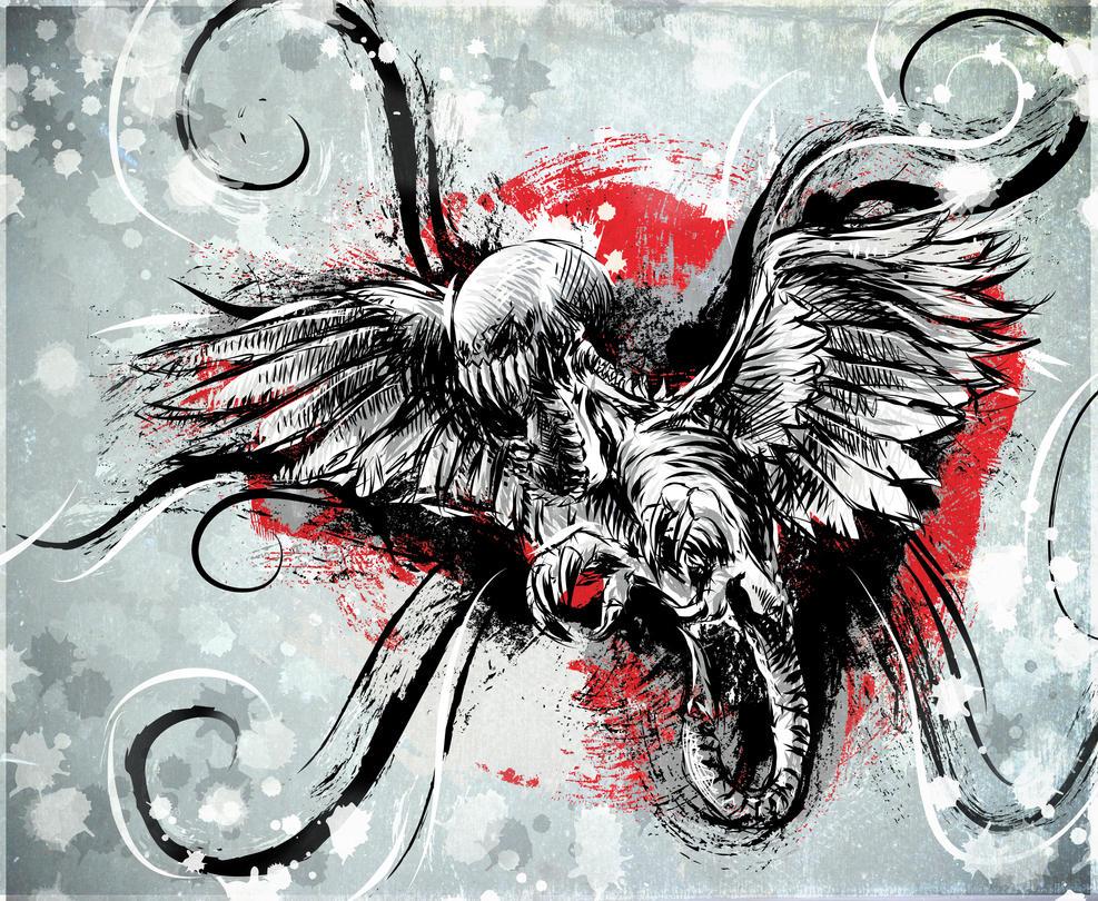 Demonic Bird by beanarts