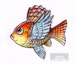 Flying-fish Copy by beanarts