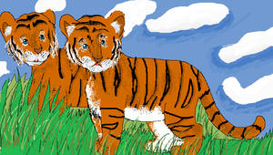 Ms paint tiger cubs