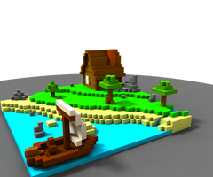 Voxel Project : little house