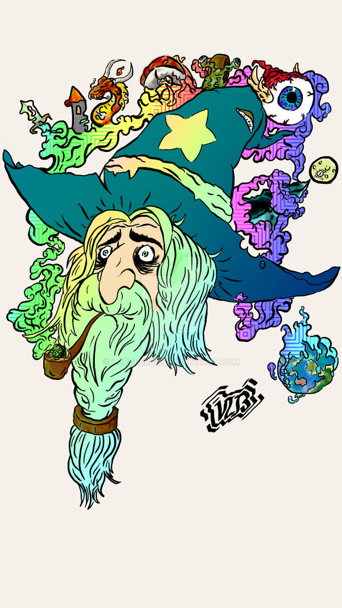Mike the Stoned Wizard | Colored
