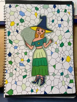 Birthday palette witch