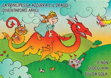 Princess Azzurra and the gluttonous dragon