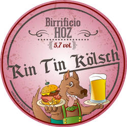 Etichetta per una birra artigianale Cane