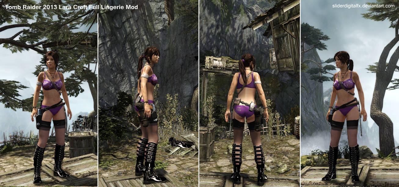 Tomb Raider 2013 Lara Croft Full Lingerie Mod By Sliderdigitalfx