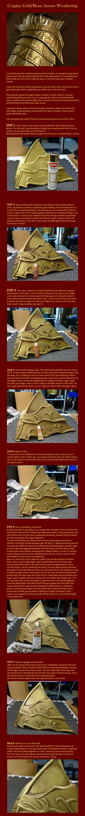 Cosplay Gold/Brass Armor Weathering Tutorial by Cosarmor