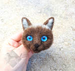 Needle felted Brooch - cat