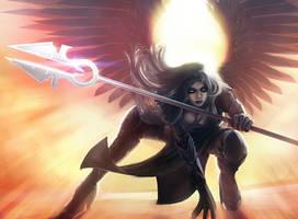 Avacyn, Angel of Hope by entroz