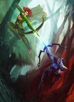 Drow Ranger vs Windrunner by entroz