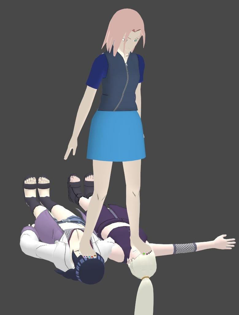 Sakura Tramples Ino and Hinata by SakuraLoverX on DeviantArt