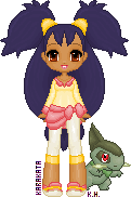 [Pokemon] Iris and Axew Pixel Doll