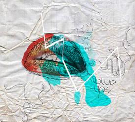 blue lips by a-anya