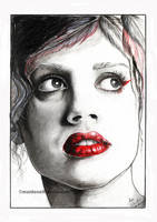 Lips red as wine by Pencil-Stencil