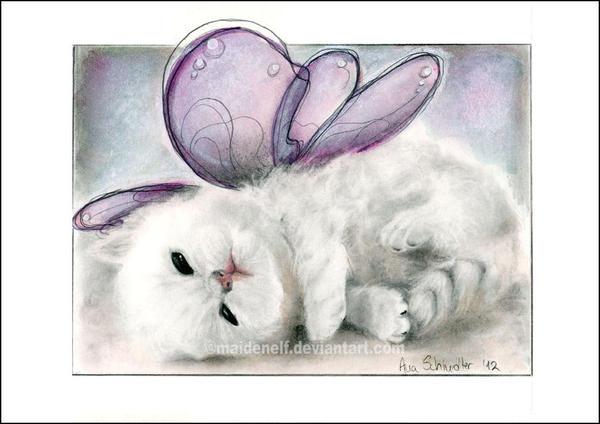 Soft kitty by Pencil-Stencil