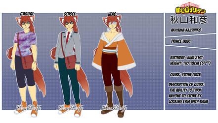 Akiyama Kazuhiko [BNHA Fan Character] by LoraWolfe