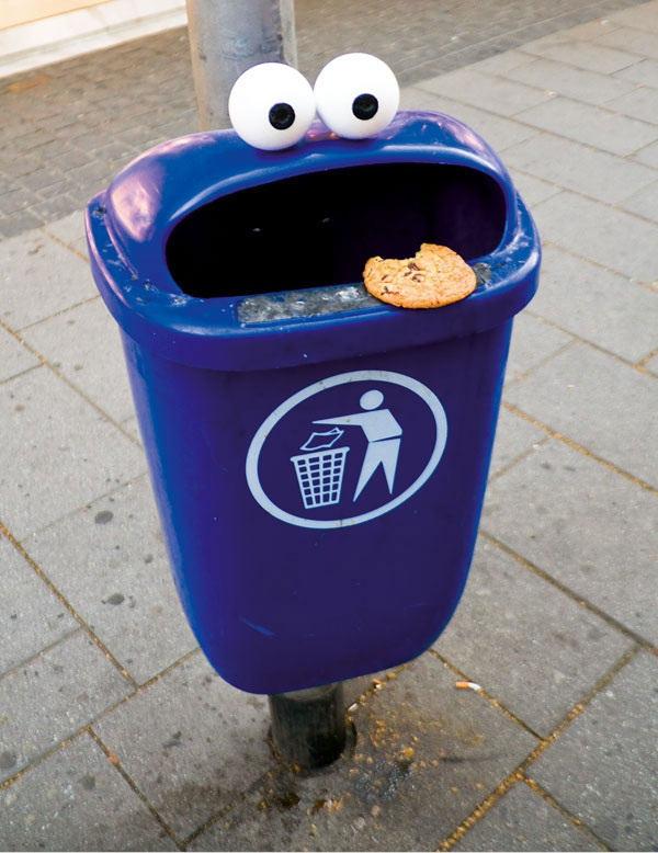 Cookie Monster Bin by CatsandJammers
