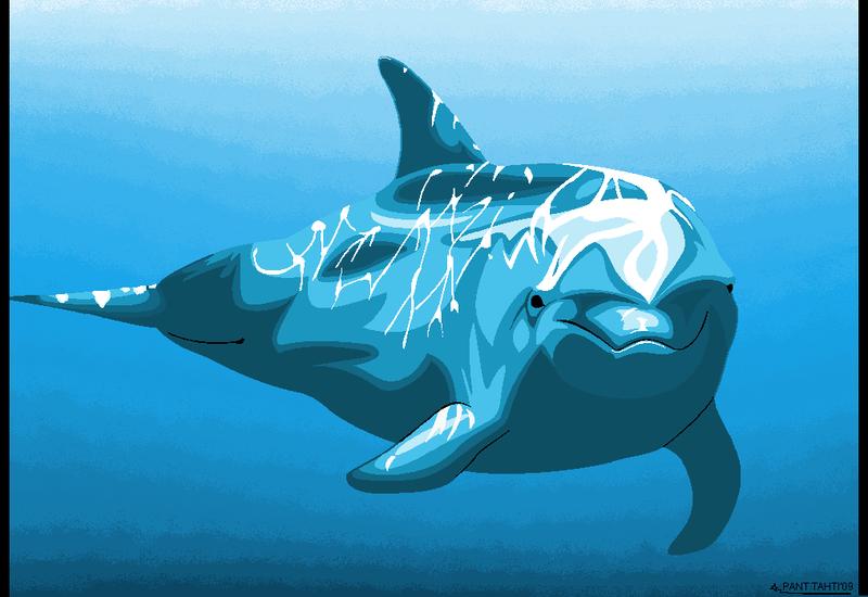 MSPaint Dolphin by SetariPlush