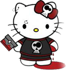 Hello Kitty Emo render by rene29