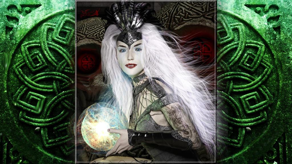 My Lady Queen Aethel (Desktop version) by 3D-Poetry