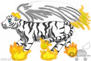 Subeta Commish - Winged Tiger by Rapha-chan
