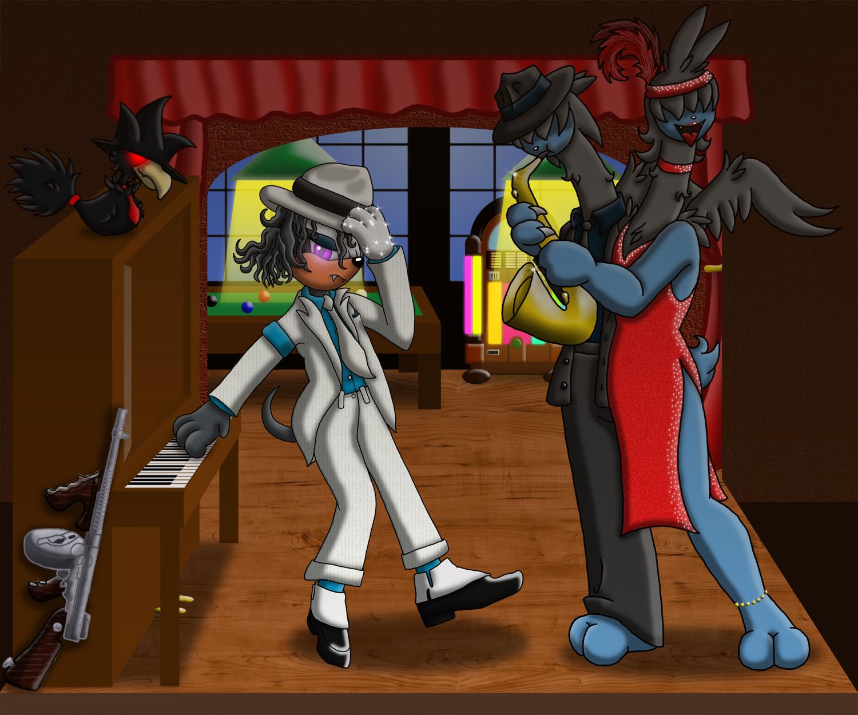 PKMNA: Bandslam! - Some Smooth Criminals! by Rapha-chan