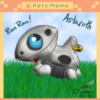 PKMNA: Pet Meme - Astaroth The Aron by Rapha-chan