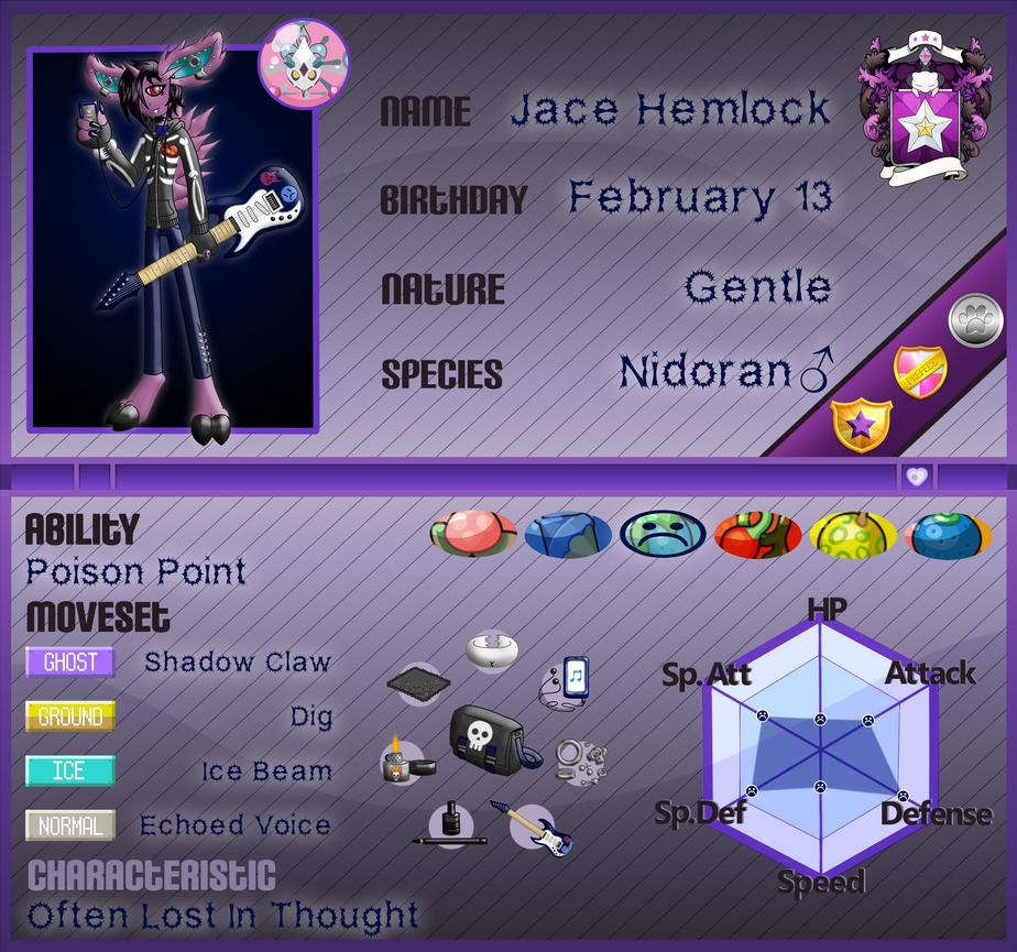 PKMNA: Armonia Institute App - Jace Hemlock by Rapha-chan