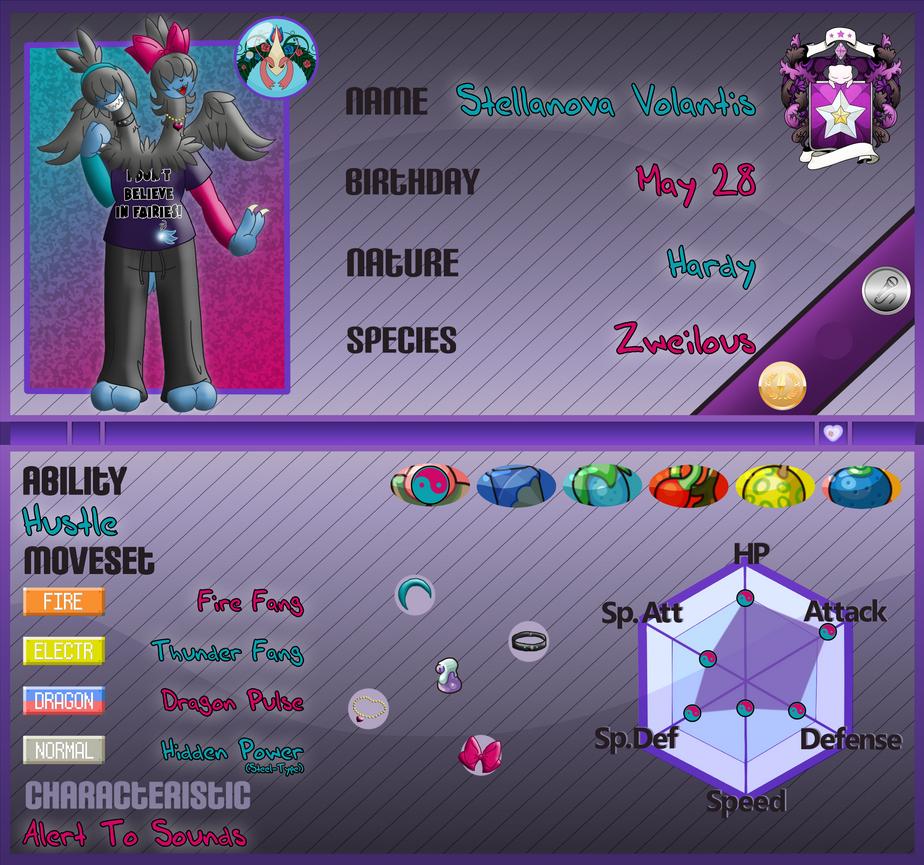 PKMNA: Armonia Institute App - Stellanova Volantis by Rapha-chan