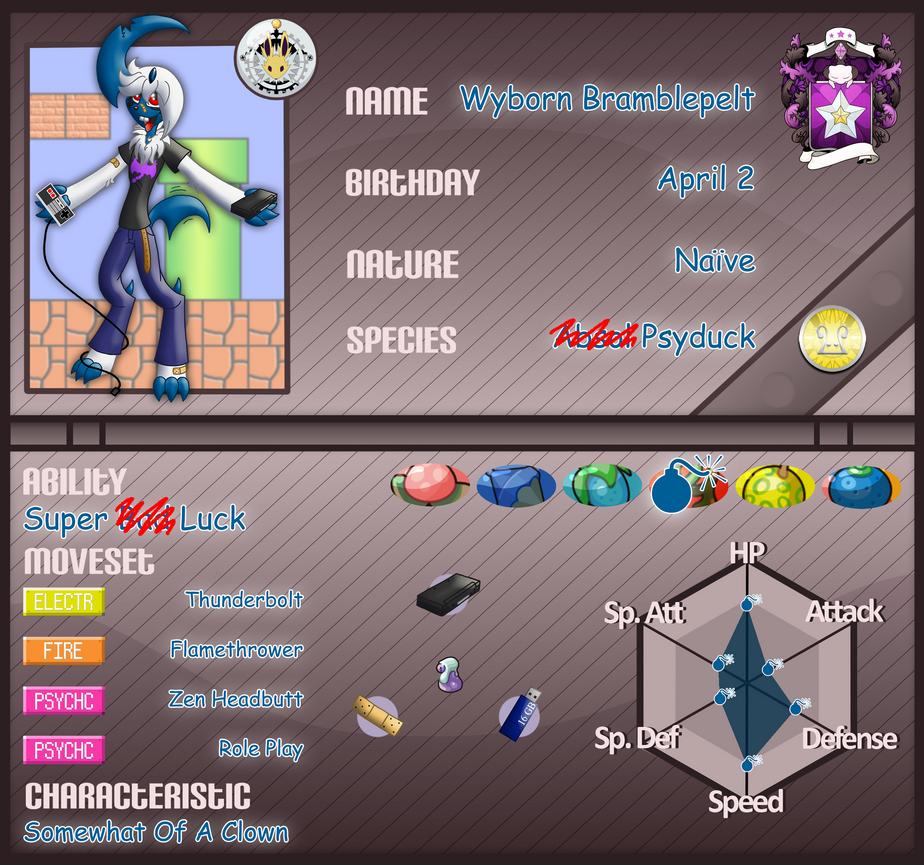 PKMNA: Mirage College App - Wyborn Bramblepelt by Rapha-chan