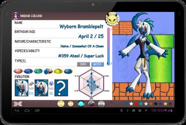 PKMNA: Y3 App - Wyborn Bramblepelt by Rapha-chan