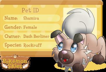 PKMNSkies: Dash's Pet - Shamira by Rapha-chan