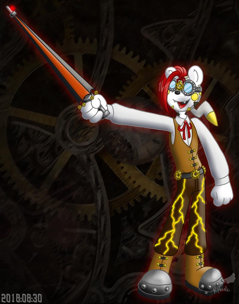 PKMNSkies: Laser Tag - Dash Reppin' Team Steampunk by Rapha-chan