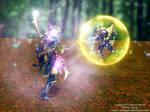 League of Legends Fan Art - Akali vs Jarvan